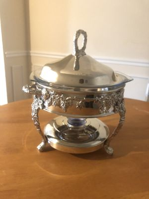 Elegant Silver Plated Chafing Dish w/Warmer for Sale in Falls Church, VA