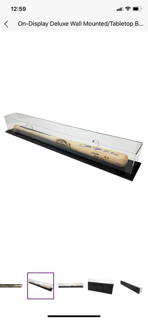 Baseball bat display case for Sale in Cleveland, OH