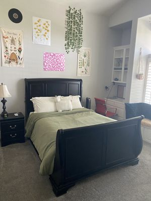 Queen bedroom set and couch for Sale in Carlsbad, CA