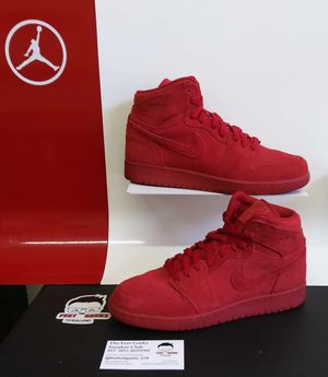 KIDS AIR JORDAN 1 RETRO RED SUEDE SIZE 7Y GS SHOES EXCELLENT USED CONDITION $100 for Sale in Cleveland, OH