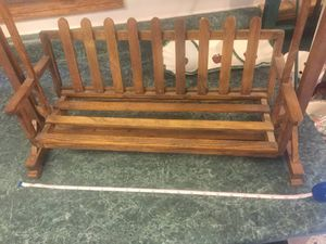 Small like new wooden swing. Great for dolls or even display. Great details and very sturdy. for Sale in Plainfield, IL