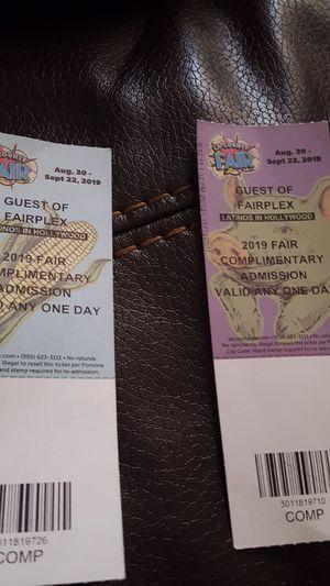 Tickets LA COUNTY FAIR for Sale in Los Angeles, CA