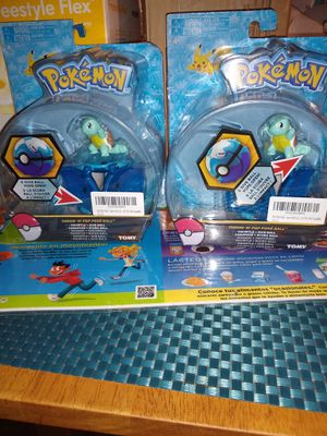 2pcs POKEMON THROW N POP POKE BALL SQUIRTLE FIGURE for Sale in San Bernardino, CA