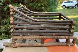 Natural Wood Sled Decor for Sale in Rockville, MD