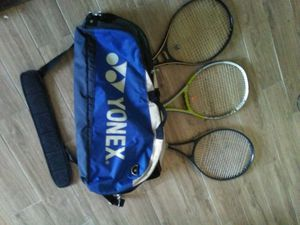 3 Tennis Rackets & Bag for Sale in Greensboro, NC