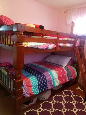 Bunk bed , real wood ,heavy,very good condition, 1 year old moving sale!!! for Sale in Pittsburgh, PA