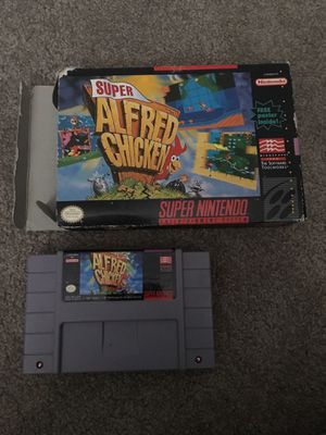 Super Alfred Chicken SNES Super Nintendo game and box for Sale in Lake Stevens, WA