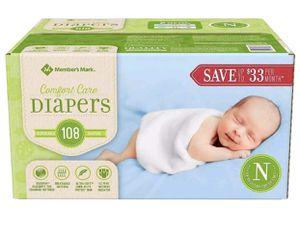 Unopened box newborn diapers for Sale in San Antonio, TX