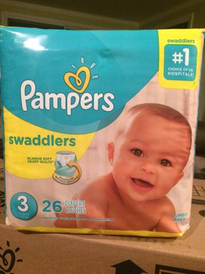 Pampers diapers swaddlers all sizes at discount prices for Sale in Annapolis, MD