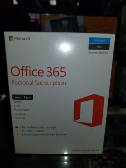 Microsoft Office 360 Personal Subscription 1yr BRAND NEW: $59.99 - OR - $39.98 w/computer purchase for Sale in Medina,  OH