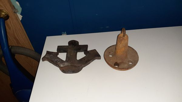 Two ten pound boat anchors