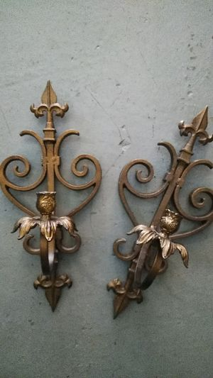 Heavy duty brass Wall Sconces Candelabra Shabby Chic for Sale in Houston, TX