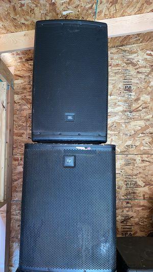 Eqipo amplificado bajo Ev y medio Jbl for Sale in Westminster, CO