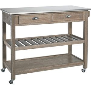 New Kitchen Island Table - Stainless Steel Top for Sale in Tempe, AZ