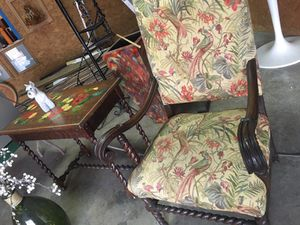 Antique Baroque Wooden Chair and Table set for Sale in Miami, FL