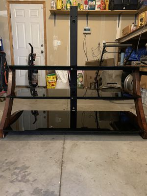 TV Stand (3 glass shelves) for Sale in Syracuse, UT