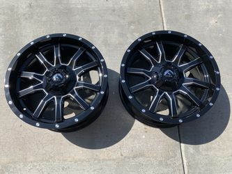 Fuel D 627 Vandal 20 x 9 Gloss Black Milled Off Road Rims for Sale in Fontana,  CA
