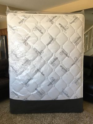 Queen Brand New Organic Pillow Top Mattress! Free Local Delivery! for Sale in Norco, CA