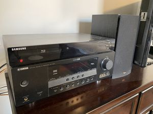 Panasonic TV, Samsung Blu-Ray, Yamaha Receiver and Two Klipsch Speakers for Sale in Rio Rancho, NM