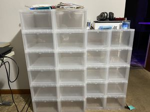 Container store sneaker storage for Sale in Waterbury, CT