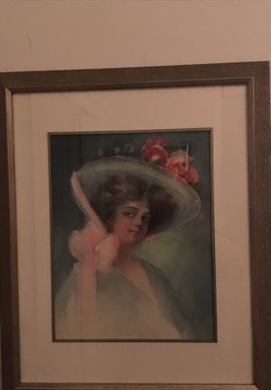Beautiful Real Painting Of Victorian Girl. for Sale in Gainesville, VA