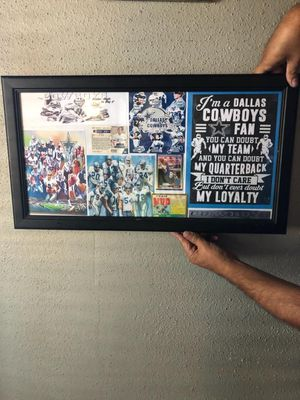 Cowboys picture frame for Sale in Haltom City, TX