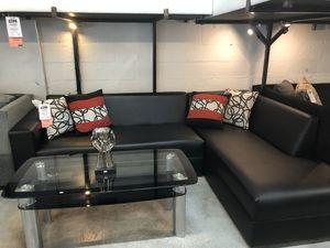 Modern Black Sectional Sofa for Sale in Miami Springs, FL