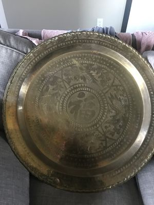 """Vintage Asian themed brass wall hanging 24"""" diameter for Sale in East Wenatchee, WA"""