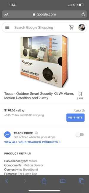Toucan solutions security camera for Sale in San Mateo, CA