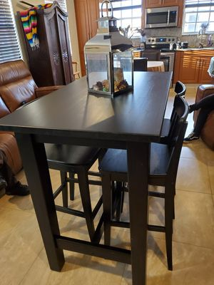 Tall wooden table with 4 chairs for Sale in Miami, FL
