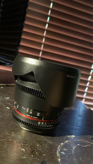 Rokinon 16 mm prime wide angle lense for Sale in Phoenix, AZ