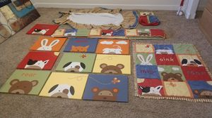 Nursery baby bedding and favor mobile art for Sale in Richmond, CA