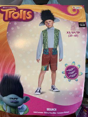 Child Trolls Branch Halloween Costume X-Small 3T-4T for Sale in Gardena, CA