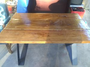 Nice solid wood dining table made of reclaimed wood. for Sale in Houston, TX