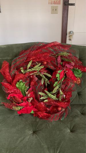 19x19 Christmas wreath from Micheals for Sale in Oklahoma City, OK