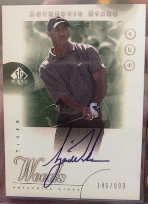 Tiger Woods 2001 Upper Deck SP Authentic Autograph Reprint #/900 for Sale in Alpharetta, GA