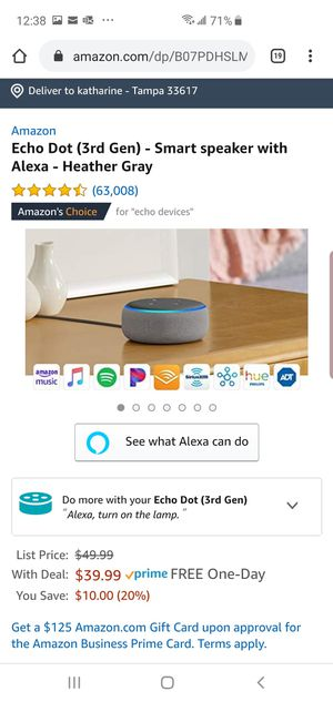 Amazon echo dot and fire tv stick for Sale in Tampa, FL