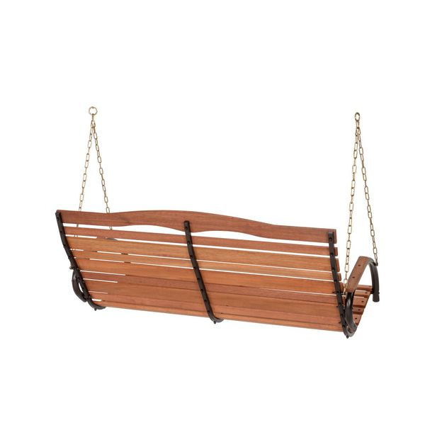 Wood Porch Swing with Chain