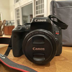 Canon Rebel T6i DSLR Camera Body + 2 Lenses + Accessories for Sale in Redding, CT