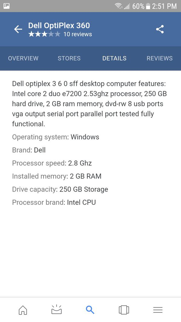 Dell optiplex 360 desktop for Sale in Lynwood, CA - OfferUp