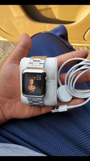 Apple watch series2 38mm rose gold all work test it out come with charger only the watch no icloud locked or nothing i even pair it up for you for Sale in La Habra Heights, CA