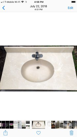 Marble bath sink for Sale in Tampa, FL