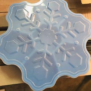 Blue Christmas Snowflake Treat Holder for Sale in Zephyrhills, FL