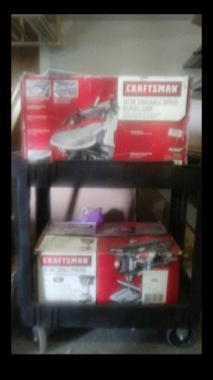 Craftman10 inch Drill press and 16 inch scroll saw for Sale in Stockton, CA