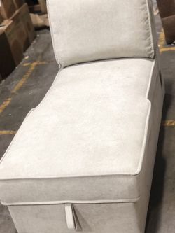 Light Grey/beige Ottoman Chaise Sofa Futon With Storage USB Ports $175 for Sale in Lynwood,  CA