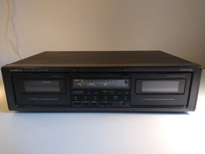 Onkyo TA-RW303 dual/dubbing cassette deck perfect working condition tested for Sale in Milwaukie, OR