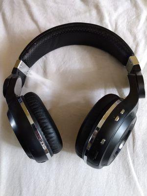 BLUEDIO TURBINE HT WIRELESS BLUETOOTH WIFI HEADPHONES STEREO WITH MIC BLACK GOOD SOUND for Sale in Escondido, CA