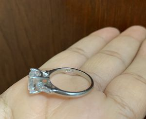 925 sterling silver princess cut ring, size 7 for Sale in Whittier, CA