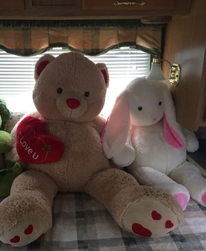 Teddy bear and bunny for Sale in Hillsboro, OR