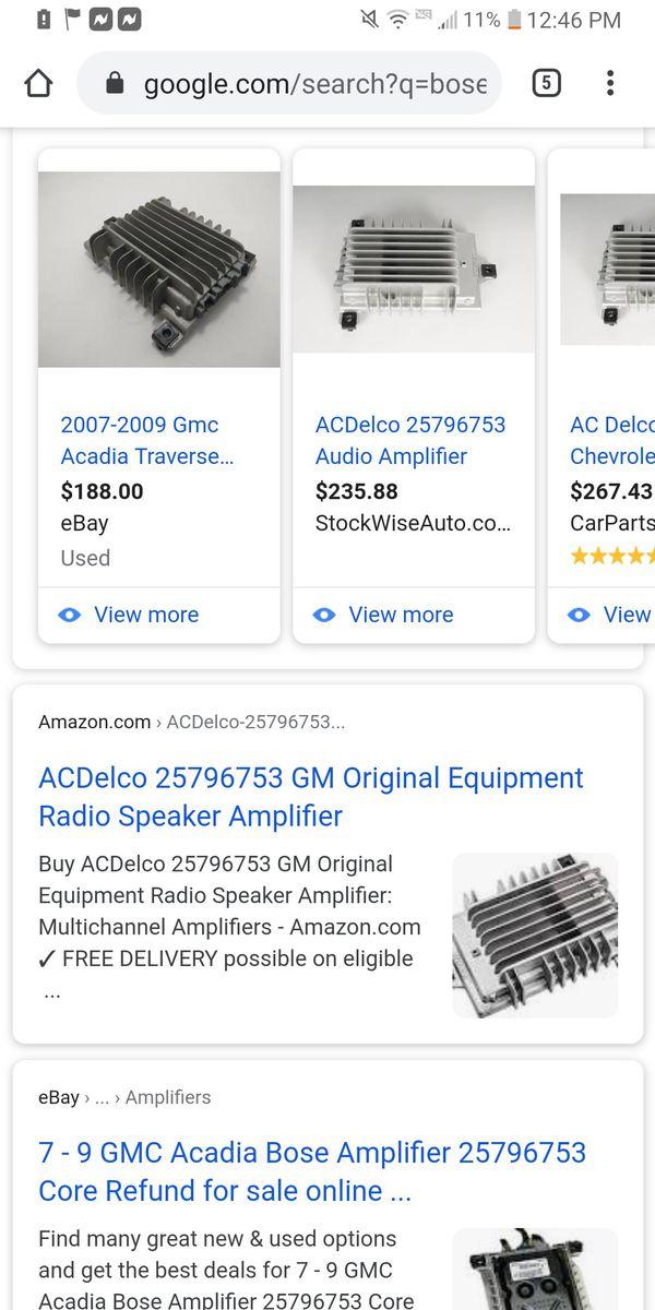 Bose oem amplifier. Gm